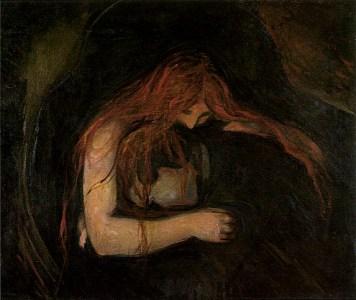 """Edward Munch - """"Vampire"""" aka """"Love and Pain"""""""