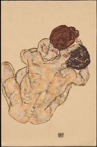 Egon Schiele - Mann und Frau (Umarmung)