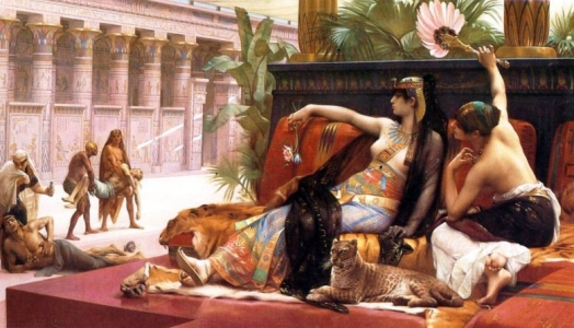 """Alexandre Cabanel, """"Kleopatra testująca trucizny na skazanych więźniach"""""""