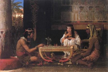 """Lawrence Alma-Tadema, """"Egipscy gracze w szachy"""""""