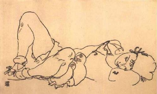 Egon_Schiele_-_Liegende_[1918]_300