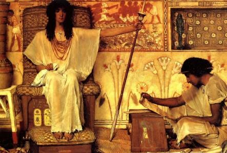 """Lawrence Alma-Tadema, """"Józef nadzorujący spichlerze faraona"""""""