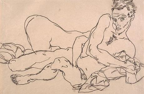 Autoportrait avec nu féminin (1918)_NE