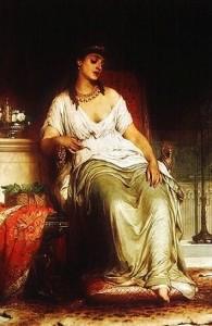 """Frank Bernard Dicksee, """"Kleopatra"""""""