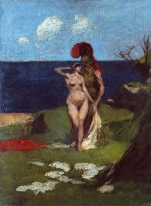 """Kazimierz Przerwa-Tetmajer, """"Naga kobieta i grecki wojownik"""""""